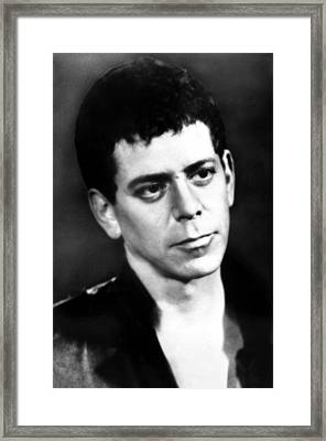 Lou Reed, Ca 1980s Framed Print by Everett