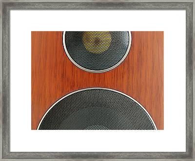 Loudspeaker Framed Print by Luigi Masella