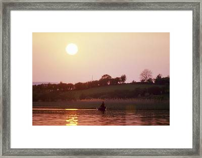 Lough Arrow, Co Sligo, Ireland, Angling Framed Print by The Irish Image Collection