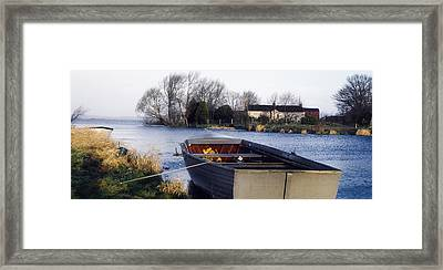 Lough Neagh, Co Antrim, Ireland Boat In Framed Print by Sici