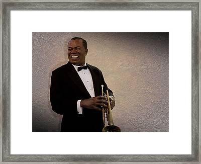 Louis Armstrong Framed Print by David Dehner
