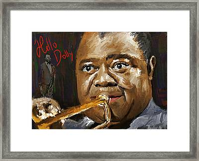Louis Armstrong Hello Dolly Framed Print