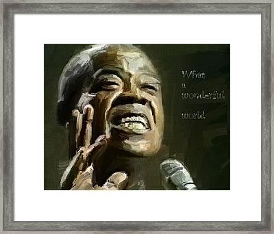 Louis Armstrong Wonderful World Framed Print