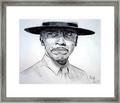 Louis Gossett Jr In An Officer And A Gentleman Framed Print by Jim Fitzpatrick