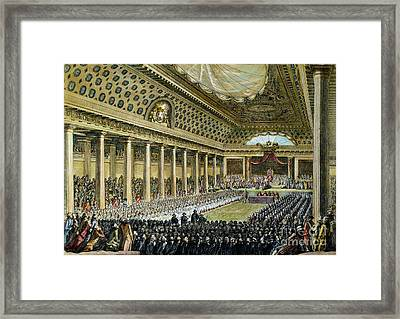 Louis Xvi - Estates General Framed Print