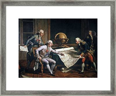 Louis Xvi And La Perouse, Artwork Framed Print by Cci Archives