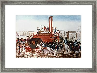 Louis Xvi: Execution Framed Print by Granger