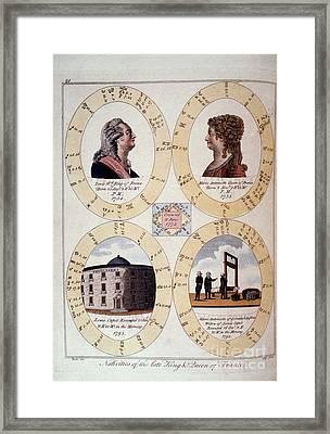 Louis Xvi: Horoscope Framed Print by Granger