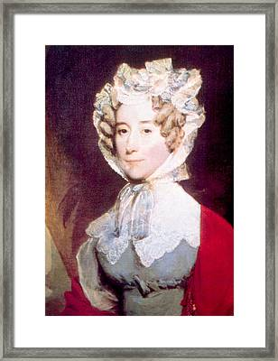 Louisa Adams 1775-1852, First Lady Framed Print by Everett
