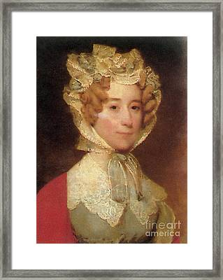 Louisa Adams Framed Print by Photo Researchers