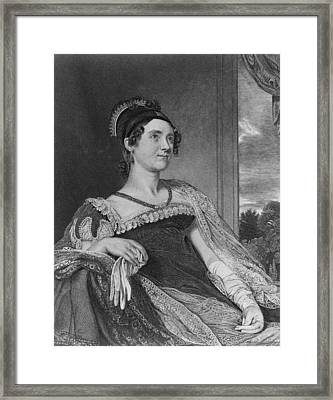 Louisa Catherine Adams Mrs. John Quincy Framed Print by Everett