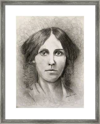 Louisa May Alcott Framed Print