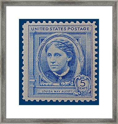 Louisa May Alcott Postage Stamp  Framed Print by James Hill
