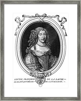 Louise De La Valliere Framed Print by Granger