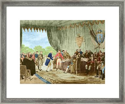 Louisiana Purchase, 1803 Framed Print by Photo Researchers