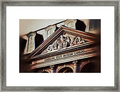 Framed Print featuring the photograph Louisiana State Museum Cabildo by Jim Albritton