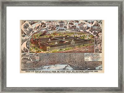 Louisville 1883 Framed Print by Donna Leach