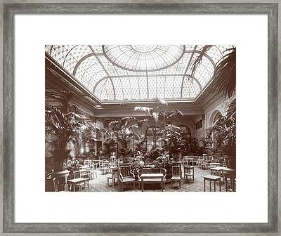 Lounge At The Plaza Hotel Framed Print by Henry Janeway Hardenbergh