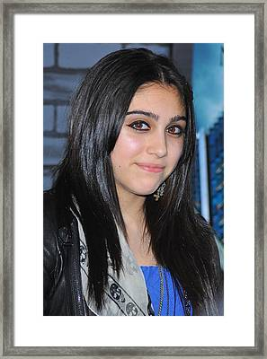 Lourdes Ciccone-leon At Arrivals Framed Print