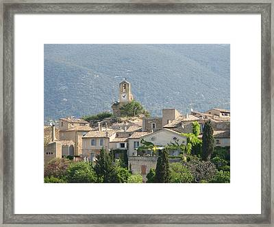 Framed Print featuring the photograph Lourmarin In Provence by Carla Parris