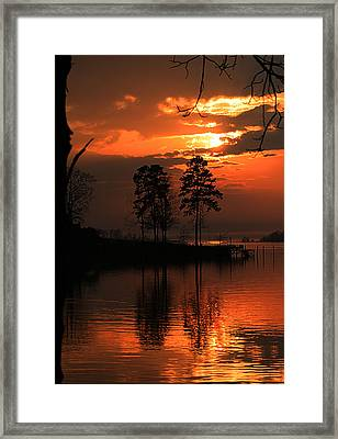 Lousiana Sunset Framed Print