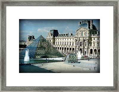 Framed Print featuring the photograph Louvre by Kathy Bassett