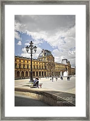 Louvre Museum Framed Print by Elena Elisseeva