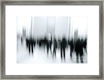 Framed Print featuring the digital art Louvre Visit by Danica Radman