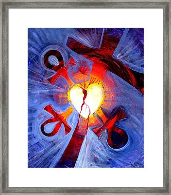 Love - In Three ... For All Framed Print by J Vincent Scarpace