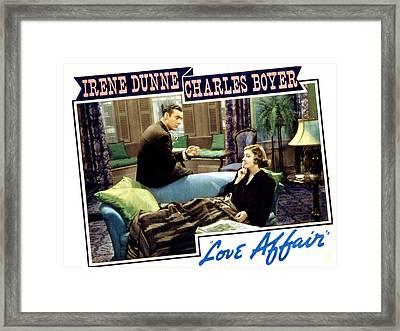 Love Affair, Charles Boyer, Irene Framed Print by Everett