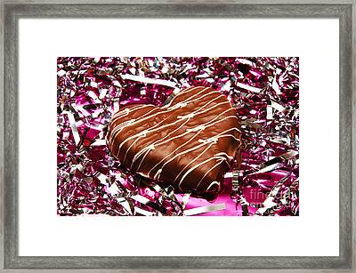 Love And All That Glitters Framed Print by Andee Design