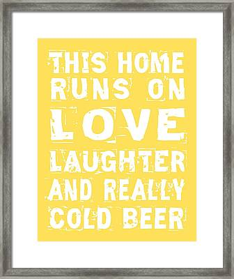 Love And Cold Beer Poster Framed Print by Jaime Friedman
