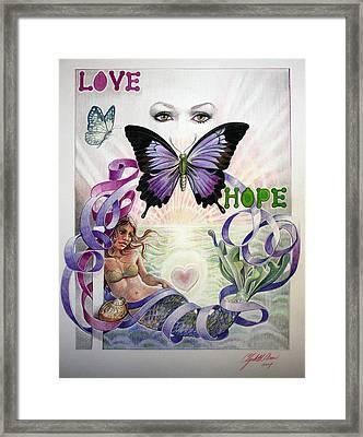 Love And Hope Framed Print by Elizabeth Shafer