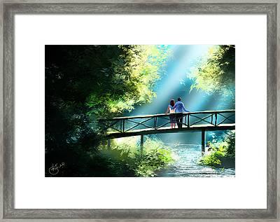 Love And Light  Framed Print by Kiran Kumar