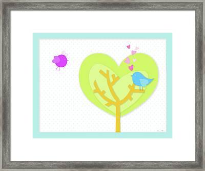Love Birds Framed Print by Nomi Elboim