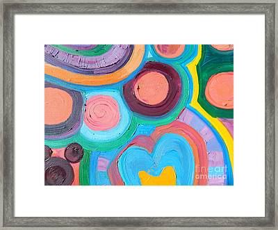Love Circle Framed Print