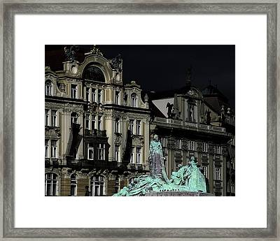 Love Each Other And Wish The Truth To Everyone - Jan Hus Prague Framed Print