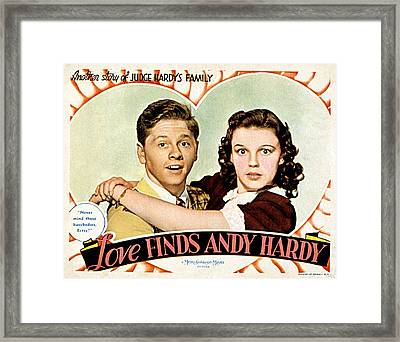 Love Finds Andy Hardy, Mickey Rooney Framed Print by Everett