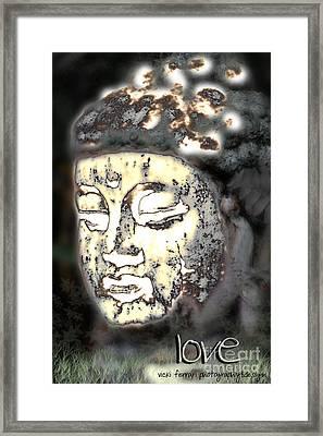 Framed Print featuring the photograph Love Glows by Vicki Ferrari