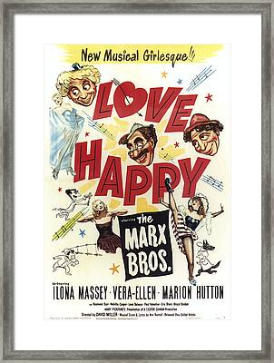 Love Happy, From Top Left Harpo Marx Framed Print