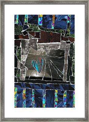 Love Hitting A Shattered Life Framed Print by Kenneth James