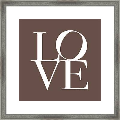 Love In Chocolate Framed Print