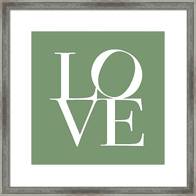 Love In Green Framed Print by Michael Tompsett
