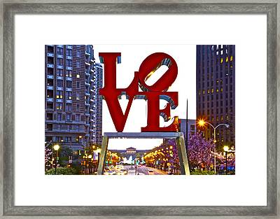 Framed Print featuring the photograph Love In Philadelphia by Alice Gipson