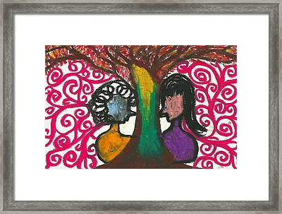 Love In The Tree's Explostion Framed Print by Ivy T Flanders