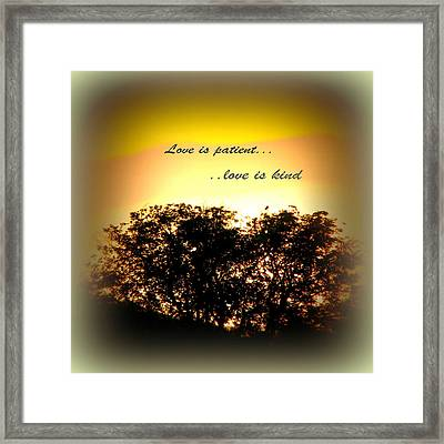 Love Is Patient   Framed Print by Michelle Frizzell-Thompson