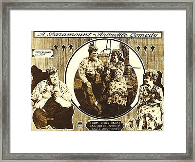 Love, Left And Left Inset Roscoe Fatty Framed Print by Everett