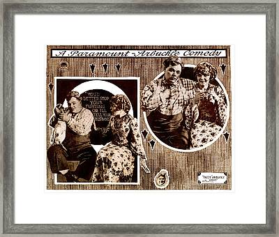 Love, Left To Right Roscoe Fatty Framed Print by Everett