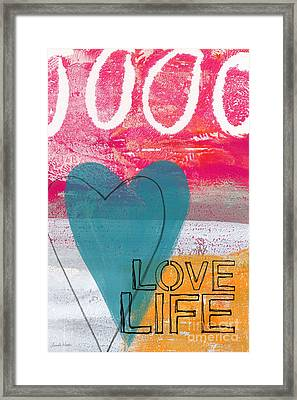 Love Life Framed Print by Linda Woods