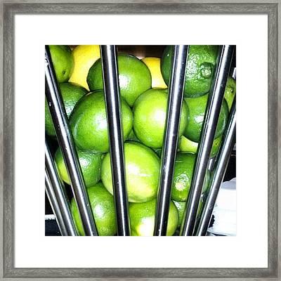 Love Me Some Lime Framed Print
